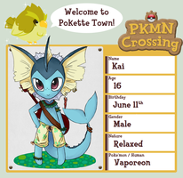 PKMN Crossing application- Kai by NightFisher