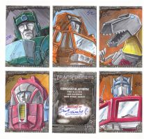 Transformers Official Sketch Cards by TheArtofScott