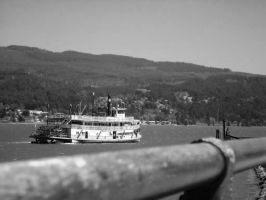 Paddlewheel on the Columbia River, Hood River Or by bwall49