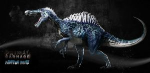 Spinosaurus Arctic Pack Primal Carnage by HopaHo