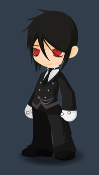 Sebastian, the Black Butler by CharonTheShadow