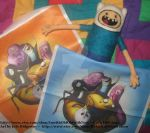 My Adventure Time Fabric! by CatsFeltLings
