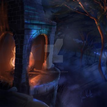 The Forge In The Forest by chateaugrief