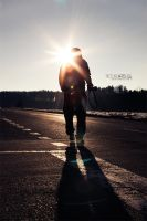 walking against the sun by picturearts