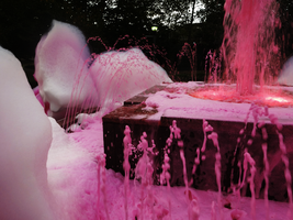 Pink Bubbles Fountain by Atlantagirl