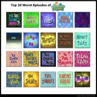 The 20 Worst Spongebob Epiodes by KessieLou