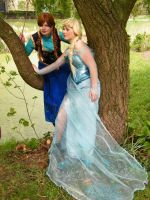 Elsa and Anna by envoysoldiercosplay