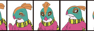 Commission: Becker Emote Set by MiaMaha