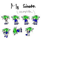 My Shade The Hedgehog Sprite Sheet Incoplete by ShadeTheThundergehog