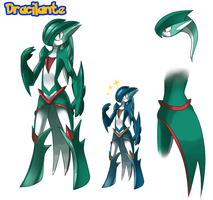 Comm - Fakemon: Dracilante by ShadowScarKnight