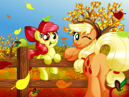 Apples in Autumn by AleximusPrime