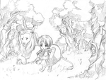 in the forest by temiji