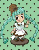 Mint Chocolate Chip-Chan by zombiemilkshake