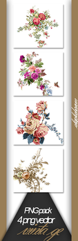 PACK PNG - Flowers by Alesplashers