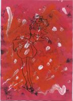 Monoprint - Woman by Luna-Rox