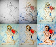 Gil Elvgren Pin Up Girl - WIP by PMucks