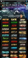 Action Sci-fi Game Style Photoshop Text Effects by PeterSaoSzabo