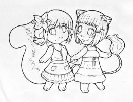 Chibi Kay and Lue by kina