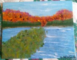 My first impressionistic painting. by KittyCatLover356