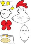Harvest Moon Chicken and Chick Plush Pattern by thesqueaky