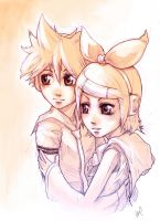 Rin and Len by Wynturtle