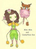 Mim-Mim and Candyfloss Kos by mlatimerridley