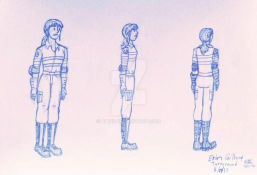 Erin Gilbert Turnaround Character Design by PL125