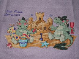 Beach Dragons Finished by Joce-in-Stitches