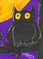 Halloween ATC Set: Owl by Rika24