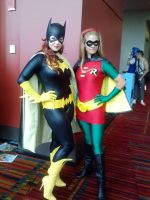 Batgirl and Robin by stitchesandsongbirds