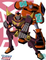 TFA Rodimus and Ironhide by ninjatron