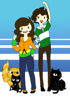Pat and Tyler adventure time~ by PattyPatTCH
