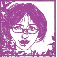 Cut paper self portrait by mushypeas