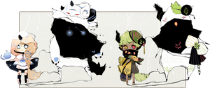 [CLOSED] ADOPT AUCTION 134 - Shadowmonsters by Piffi-adoptables