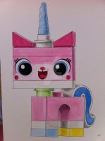 UNIKITTY LEGO MOVIE Drawing /painting art by billyboyuk