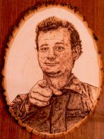 Bill Murray - Wood burning by brandojones