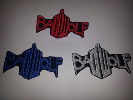 Dr Who Bad Wolf Patches by GlitterFox