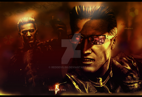 Albert Wesker Wallpaper by RedDevil00