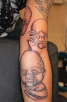 Gieger Babies (first Portrait like tattoo) by Lucifine666