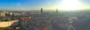 Dresden autumn panorama by Lykorias