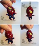 Spider Man Keychain commission by SculptedCreations