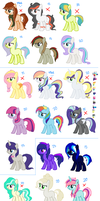 HUGE adopts. Closed by Rainbow-ninja-adopts
