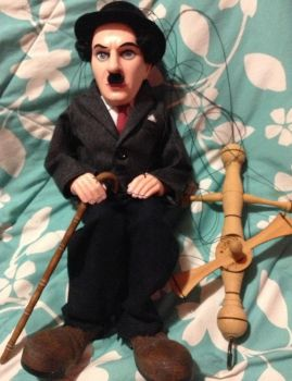 For Sale-Handmade Charlie Chaplin Marionette by Huzian