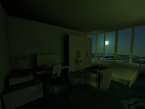 Flooded night room no material by KazHazo