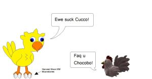 A Chocobo and a Cucco by Poketoad