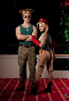 Cammy and Guile by sistercacao