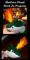 Quilava Plush WIP by Eevee4Ever