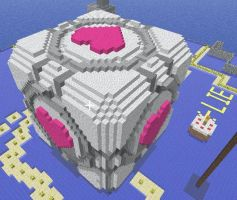 Giant Weighted Companion Cube by Kronopticon