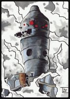 IG-88 sketch card by TolZsolt