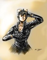 Catwoman by Mark-Clark-II